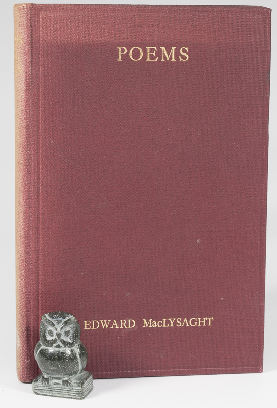 MacLYSAGHT, Poems by EDWARD MacLYSAGHT.