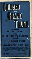 Chicago and Grand Trunk Railway, in Connection with the Grand Trunk R'y of Canad