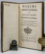 Addison, Maxims, Observations, and Reflections, Moral, Political, and Divine.