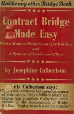 Jo Culbertson - Contract Bridge