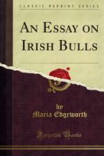 Edgeworth, An Essay on Irish Bulls.